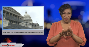 Sign1News anchor Candace Jones - How will the government shutdown affect you? (ASL - 12.22.18)