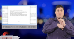 Sign1News anchor Jethro Wooddall - OPM suggestions for furloughed employees (ASL - 12.29.18)