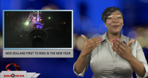 Sign1News anchor Candace Jones - New Zealand first to ring in the new year (ASL - 12.31.18)