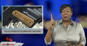 Sign1News anchor Candace Jones - Police stress no celebratory shooting (ASL - 12.31.18)