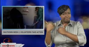 Sign1News anchor Candace Jones - Shutdown week 2, volunteers take action (ASL - 12.31.18)