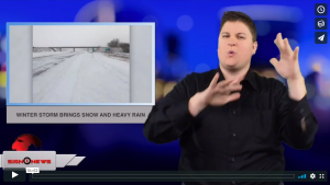 Sign 1 News with Jethro Wooddall - Winter storm brings snow and heavy rain (ASL - 12.28.18)