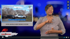 Sign 1 News with Candace Jones - NYPD unveils new drone system (ASL - 12.5.18)