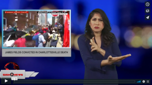 Sign 1 News with Crystal Cousineau - James Fields convicted in Charlottesville death (ASL - 12.8.18)