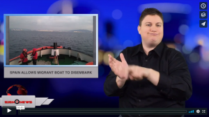 Sign 1 News with Jethro Wooddall - Spain allows migrant boat to disembark (ASL - 12.28.18)