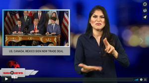 Sign 1 News with Crystal Cousineau - US, Canada, Mexico sign new trade deal (12.2.18)