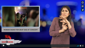 Sign 1 News with Crystal Cousineau - Woman signs for deaf dad at concert (ASL - 12.19.18)