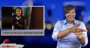 Sign1News anchor Candace Jones - 7-year old killed in weekend shooting (ASL - 1.19.18)