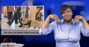 Sign1News anchor Candace Jones - TSA says no more pointy-ear dogs (ASL - 1.19.18)