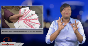 Sign1News anchor Candace Jones - Mega millions up to $425M for New Year's Day drawing (ASL - 1.1.19)