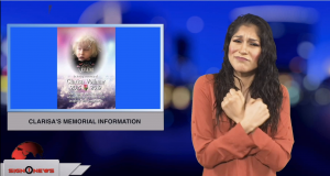 Sign1News anchor Crystal Cousineau - Clarisa's memorial information (ASL - 1.4.19)