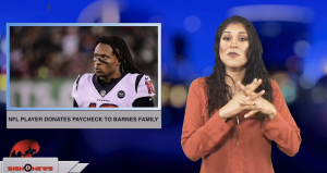 Sign1News anchor Crystal Cousineau - NFL player donates paycheck to Barnes family (ASL - 1.4.19)