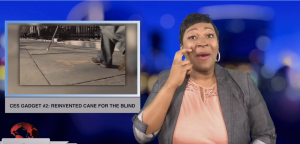 Sign1News anchor Candace Jones - CES gadget #2: Reinvented cane for the blind (ASL - 1.9.19)