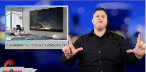 Sign1News anchor Jethro Wooddall - CES gadget #3: 219-inch Samsung TV! (ASL - 1.10.19)