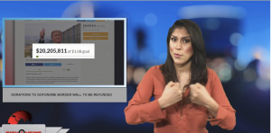 Sign1News anchor Crystal Cousineau - Donations to GoFundMe border wall to be refunded (ASL - 1.12.19)