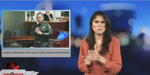 Sign1News anchor Crystal Cousineau - Sheriff suspended over high school massacre response (ASL - 1.12.19)