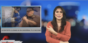 Sign1News anchor Crystal Cousineau - Scientists closing in on universal flu vaccine (ASL - 1.12.19)