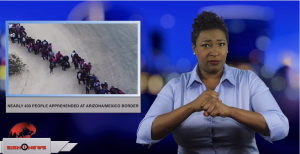 Sign1News anchor Candace Jones - Nearly 400 people apprehended at Arizona/Mexico border (ASL - 1.19.19)