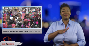 Sign1News anchor Candace Jones - Women's marches all over the country (ASL - 1.19.19)