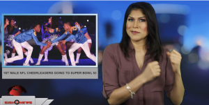 Sign1News anchor Crystal Cousineau - 1st male cheerleaders going to Super Bowl 53 (ASL - 1.25.19)