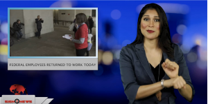 Sign1News anchor Crystal Cousineau - Federal employees returned to work today (ASL - 1.28.19)
