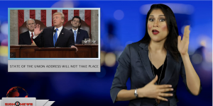 Sign1News anchor Crystal Cousineau - State of the Union address will not take place (ASL - 1.28.19)