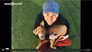 Sign 1 News with Jethro Wooddall - Deaf-blind puppy needs a good home (ASL - 1.26.19)