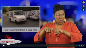 Sign 1 News with Candace Jones - Mail delivery suspended in some cities (ASL - 1.30.19)
