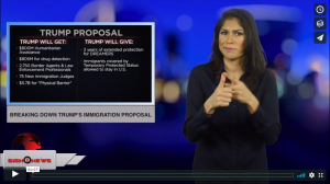Sign 1 News with Crystal Cousineau - Breaking down Trump's immigration proposal (ASL - 1.20.19)