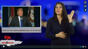 Sign 1 News with Crystal Cousineau - State of the Union address still up in the air (ASL - 1.20.19)