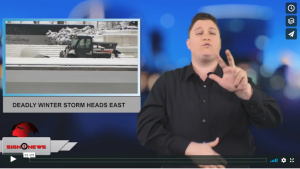 Sign 1 News with Jethro Wooddall - Deadly winter storm heads east (ASL - 1.13.19)