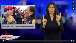 Sign 1 News with Crystal Cousineau - Teens taunt elder at Indigenous People's March (ASL - 1.20.19)