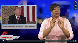 Sign 1 News with Candace Jones - Trump invites Congress leaders to talk, try to compromise (ASL - 1.2.19)