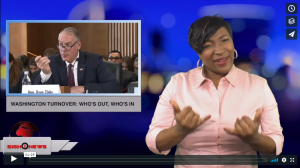 Sign 1 News with Candace Jones - Washington turnover: who's out, who's in (ASL - 1.2.19)