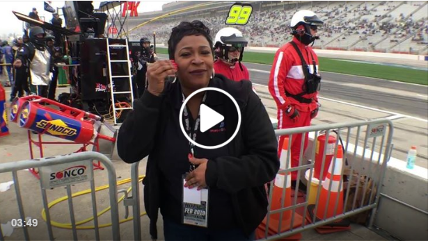 Sign1News Candace Jones reports trackside from Atlanta Motor Speedway #nascar race.