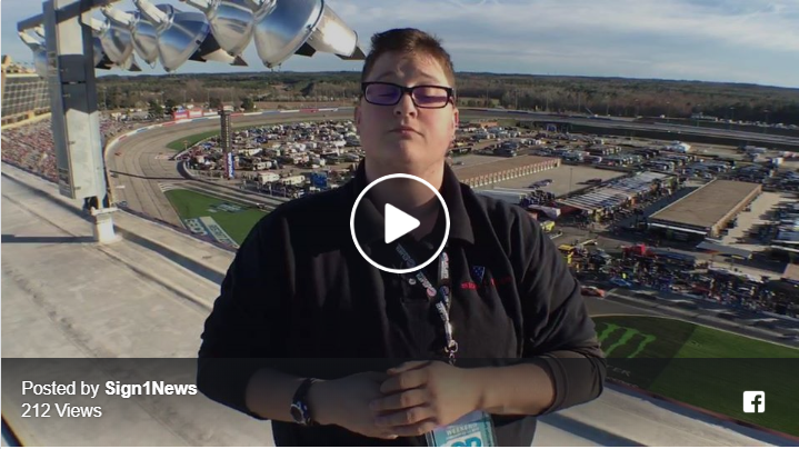 Sign1News @JethroWooddall reports from track rooftop at Atlanta Motor Speedway NASCAR #fohqt50