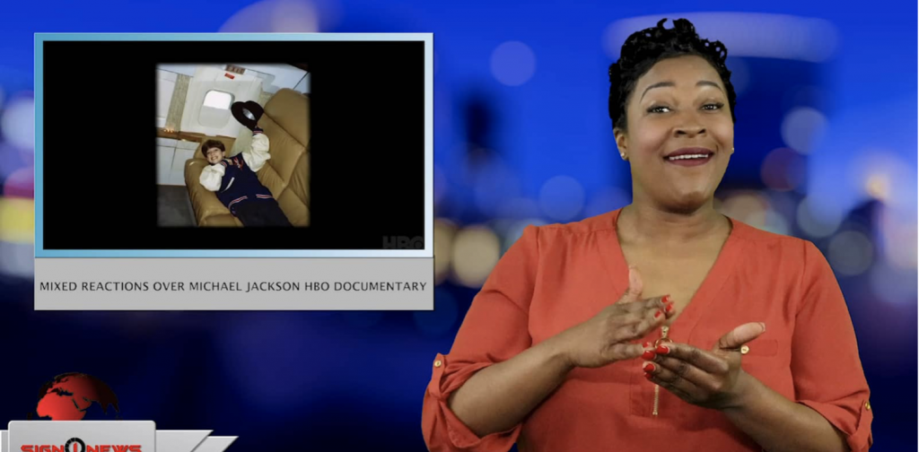 Sign1News anchor Candace Jones - Mixed reactions over Michael Jackson HBO documentary (ASL - 3.4.19)