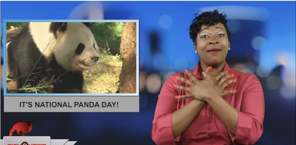 Sign1News anchor Candace Jones - It's National Panda day! (ASL - 3.16.19)