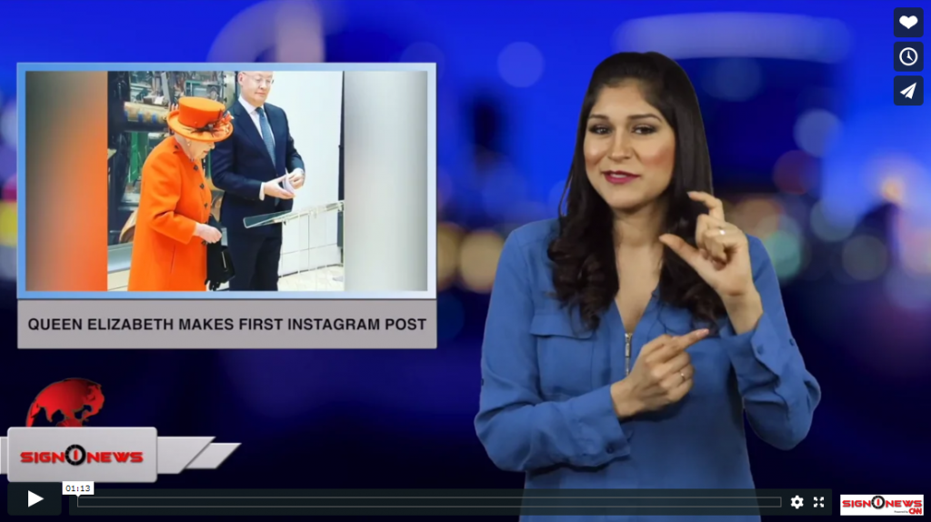 Sign 1 News with Crystal Cousineau - Queen Elizabeth makes first Instagram post (ASL - 3.10.19)