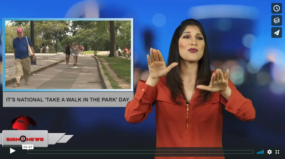 Sign 1 News with Crystal Cousineau - It's National 'Take A Walk In The Park' Day (ASL - 3.30.19)