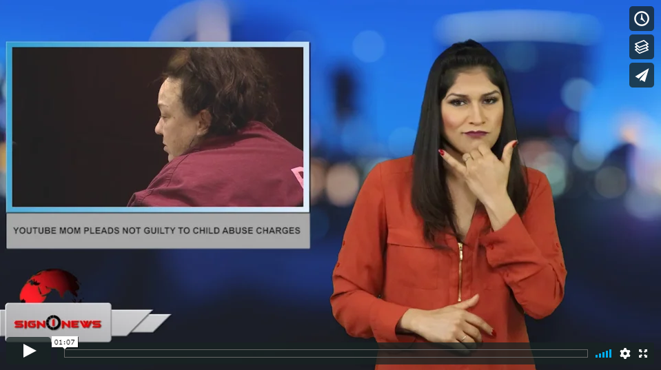 Sign 1 News with Crystal Cousineau - YouTube mom pleads not guilty to child abuse charges (ASL - 3.30.19)