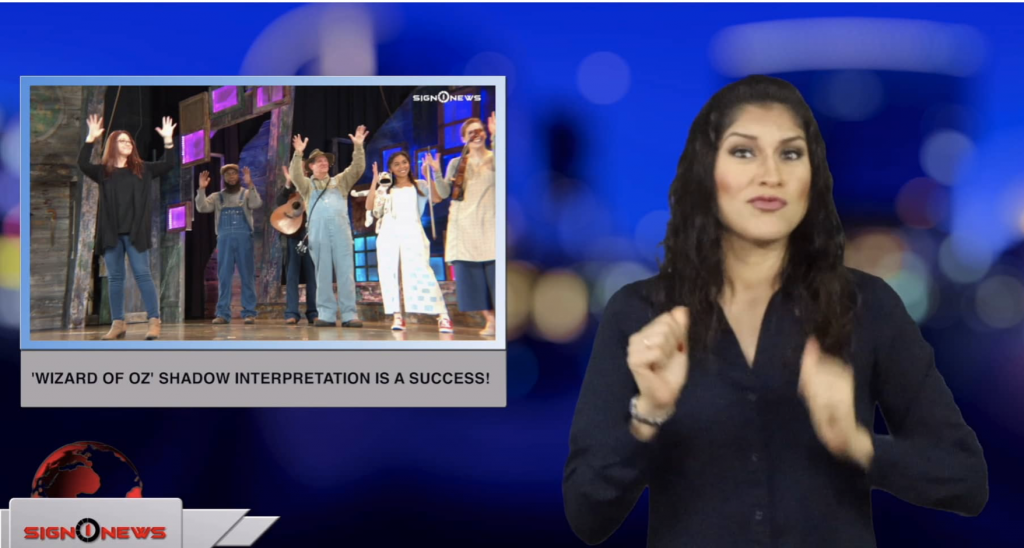 Sign1News anchor Crystal Cousineau - 'Wizard of Oz' shadow interpretation is a success! (ASL - 4.2.19)