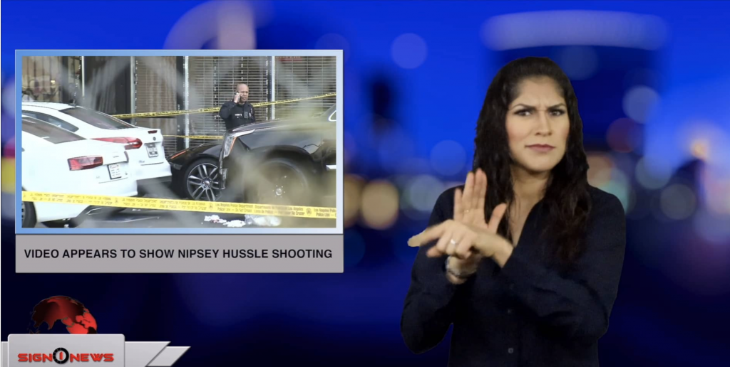 Sign1News anchor Crystal Cousineau - Video appears to show Nipsey Hussle shooting (ASL - 4.2.19)
