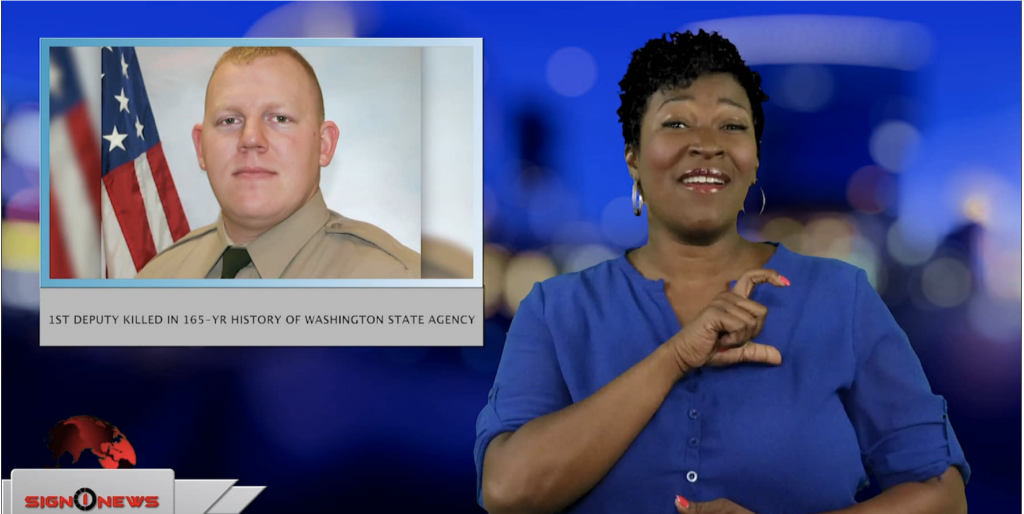 Sign1News anchor Candace Jones - 1st deputy killed in 165-yr history of Washington State Agency (ASL - 4.15.19)