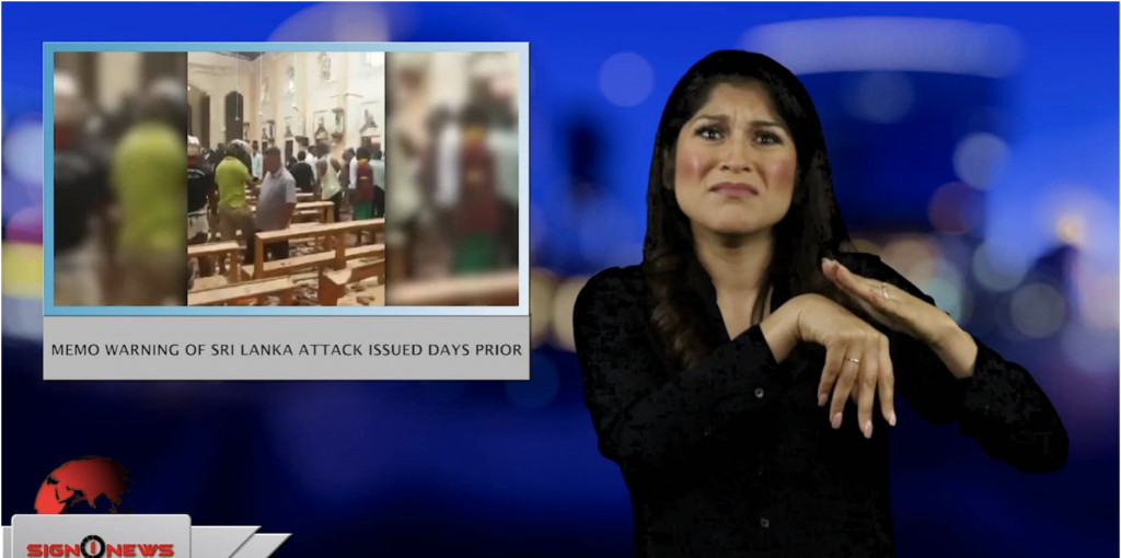 Sign1News anchor Crystal Cousineau - Memo warning of Sri Lanka attack issued days prior (ASL - 4.22.19)
