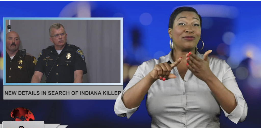 Sign1News anchor Candace Jones - New details in search of Indiana killer (ASL - 4.23.19)