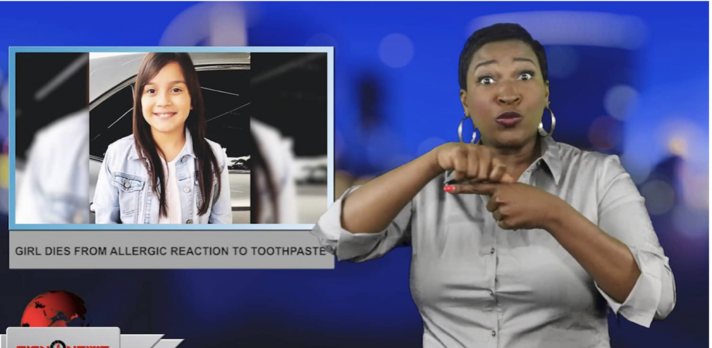 Sign1News anchor Candace Jones - Girl dies from allergic reaction to toothpaste (ASL - 4.23.19)