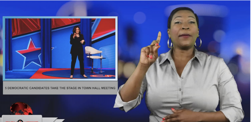 Sign1News anchor Candace Jones - 5 democratic candidates take the stage in town hall meeting (ASL - 4.23.19)