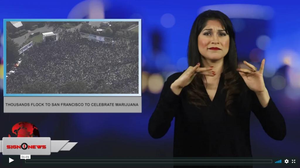 Sign 1 News with Crystal Cousineau - Thousands flock to San Francisco to celebrate Marijuana (4.21.19)