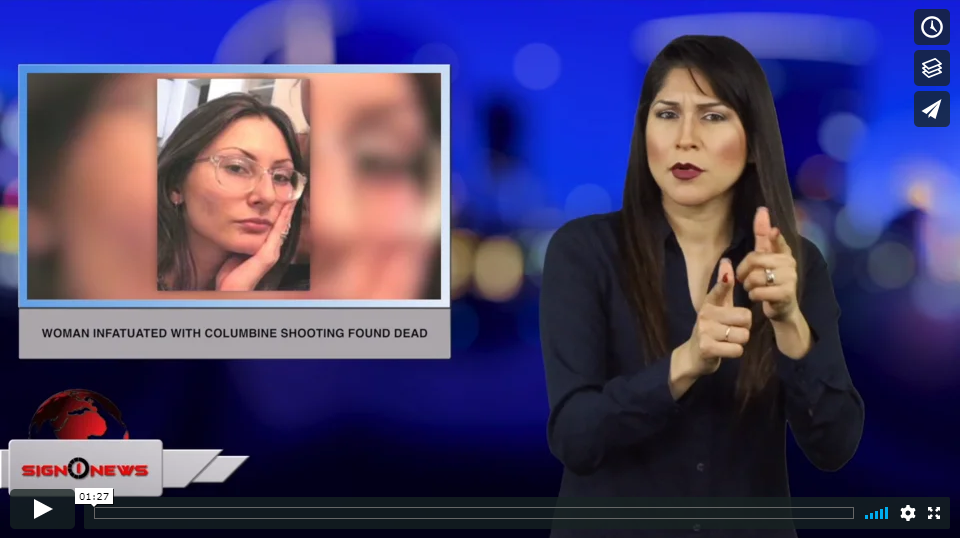 Sign 1 News with Crystal Cousineau - Woman infatuated with Columbine shooting found dead (ASL - 4.17.19)